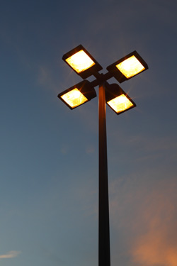 Modern parking lot light