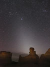Zodiacal Light at Monument Rocks