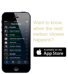 Meteor Shower Guide iPhone App